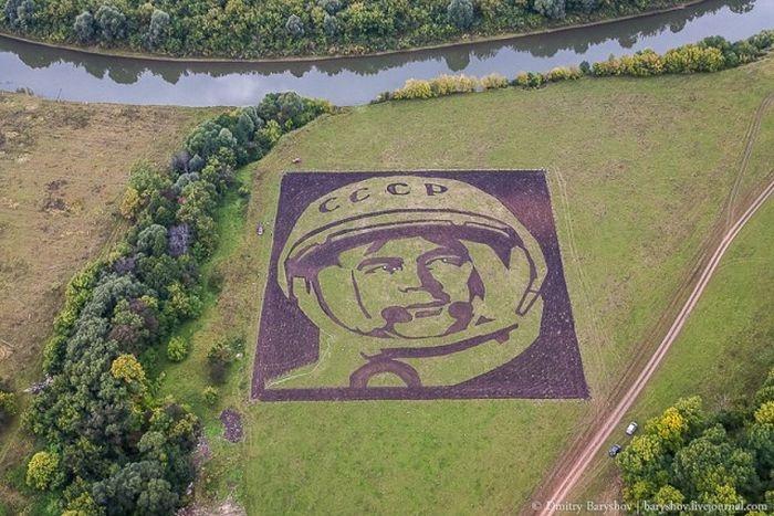 Агроизображение космонавта Андрияна Николаева (8 фото)