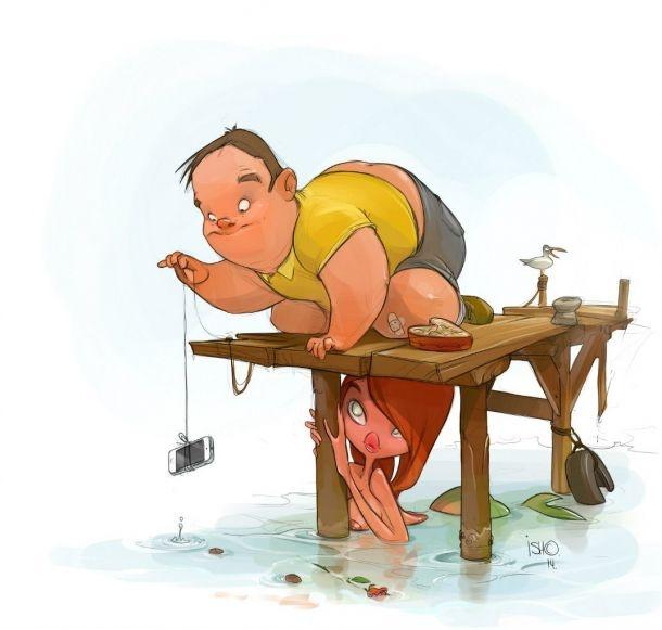 Веселые иллюстрации Сергея Ишмаева (17 картинок)