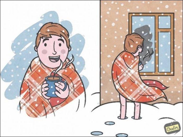 Смешные комиксы 03.10.2014 (19 картинок)