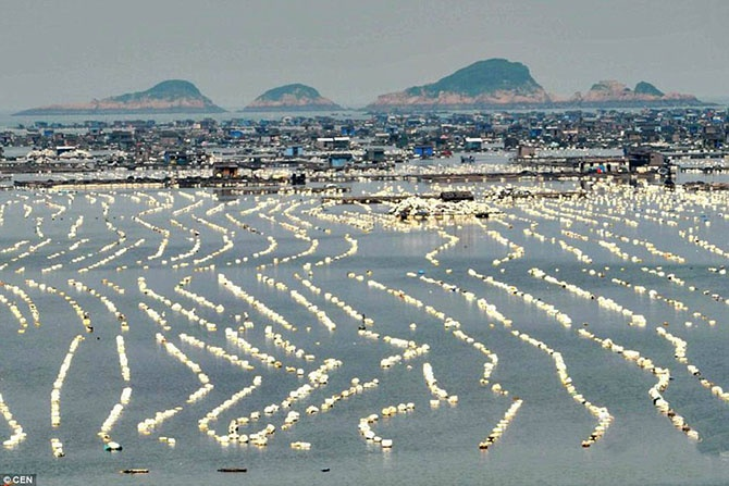Невероятные плавающие города Китая (12 фото)