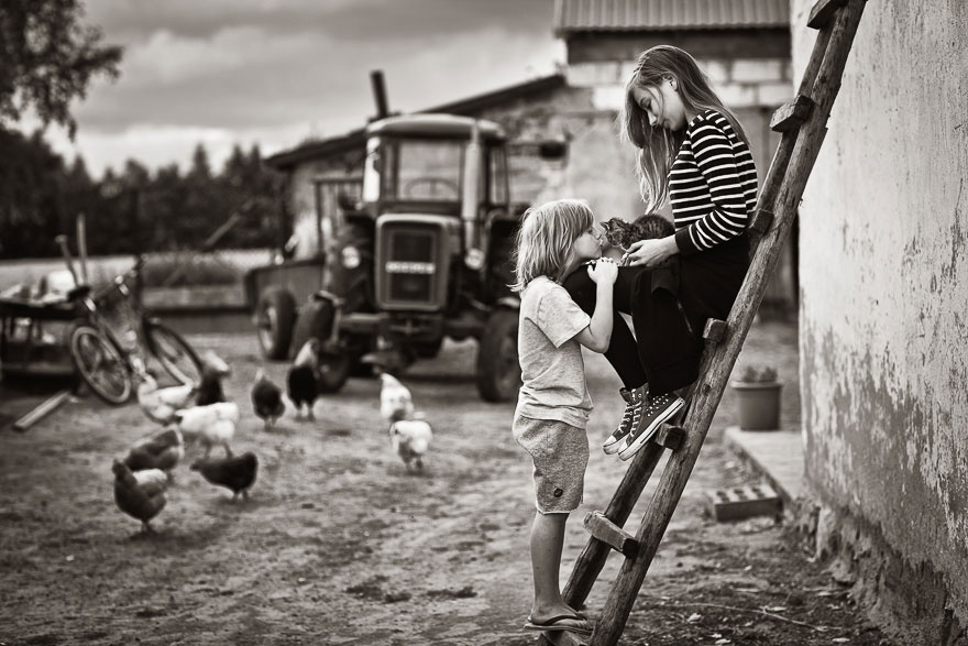 Милейшие снимки с детьми и кошками (20 фото)