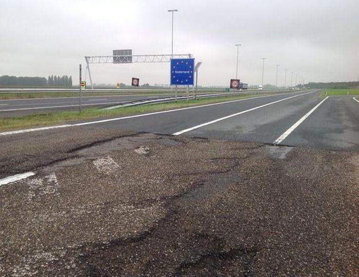Как выглядит граница между Голландией и Бельгией (3 фото)