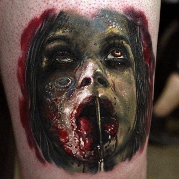 Пугающие татуировки (30 фото)