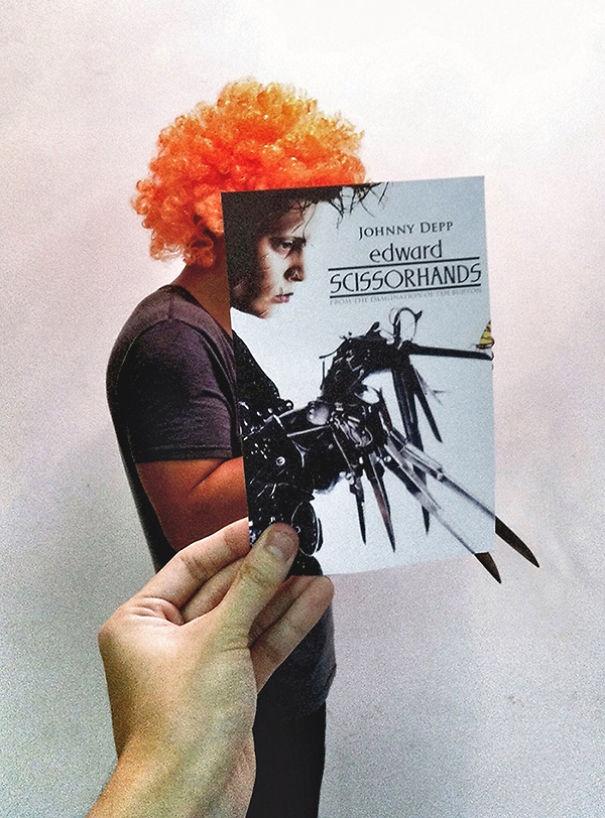 """Дизайнер """"смешивает"""" постеры знаменитых фильмов с реальной действительностью (14 фото)"""