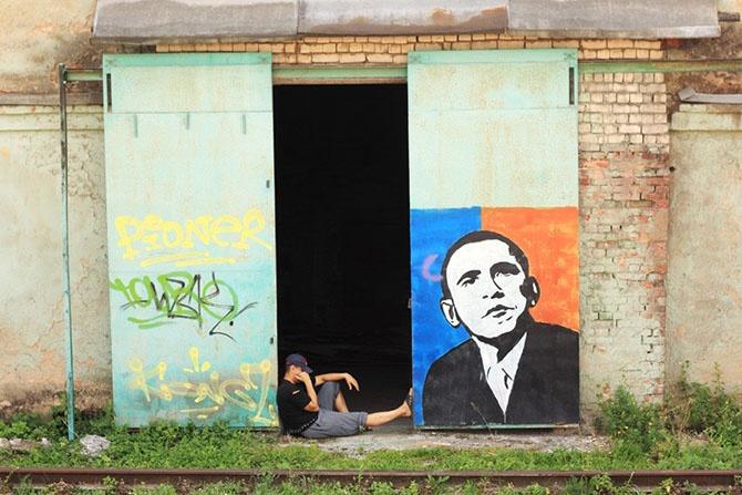 Американский след в российской провинции (20 фото)