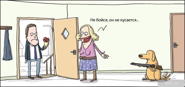 Смешные комиксы 15.10.2014 (19 картинок)