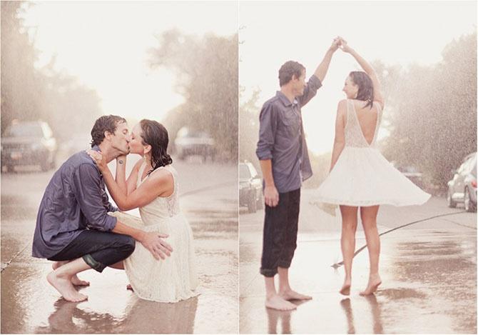 Молодожены, которые не испугались дождя в день свадьбы (20 фото)