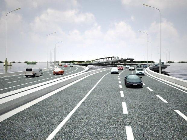 Зачем нужен такой мост? (4 фото)