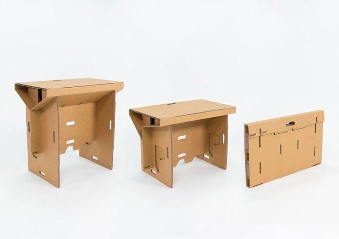 Стол-трансформер из картона (9 фото)