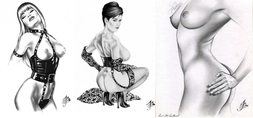 Соблазнительное тело в рисунках Пола Джона Балларда (8 фото)