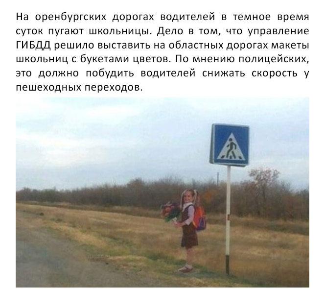 Оренбургская область: на дорогах появились макеты детей (5 фото)