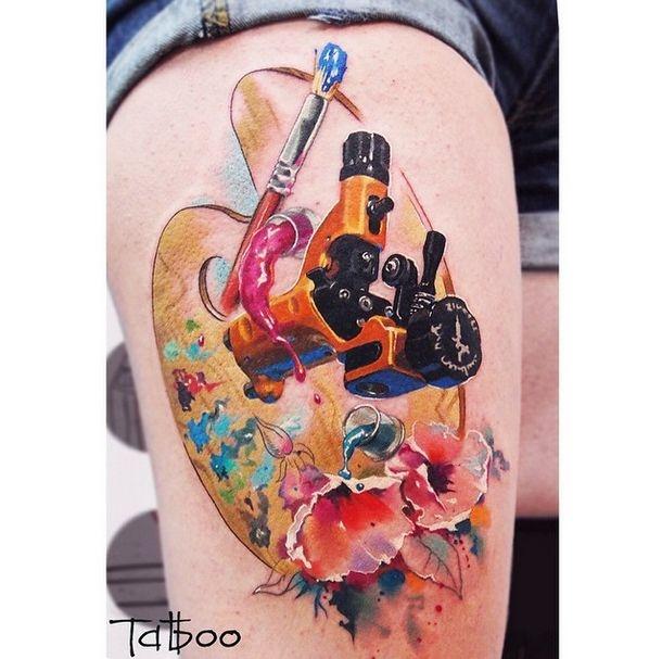 Санкт-Петербург: очень реалистичные татуировки Валентины Рябовой (30 фото)