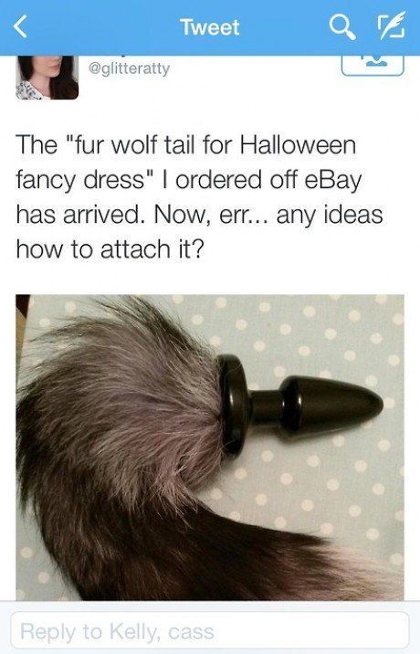 Необычный хвост для костюма на Хэллоуин (3 фото)
