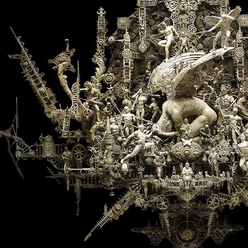 Изысканные и невероятно сложные скульптуры Криса Кукси (9 фото)