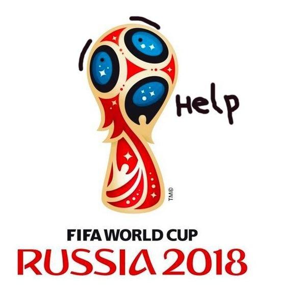 ЧМ-2018 по футболу: официальная эмблема  и фотожабы на нее (11 картинок)