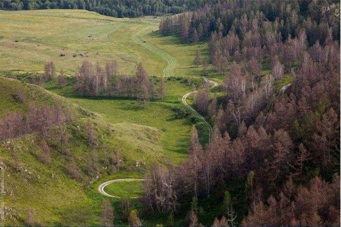 Россия: самые красивые дороги (54 фото)