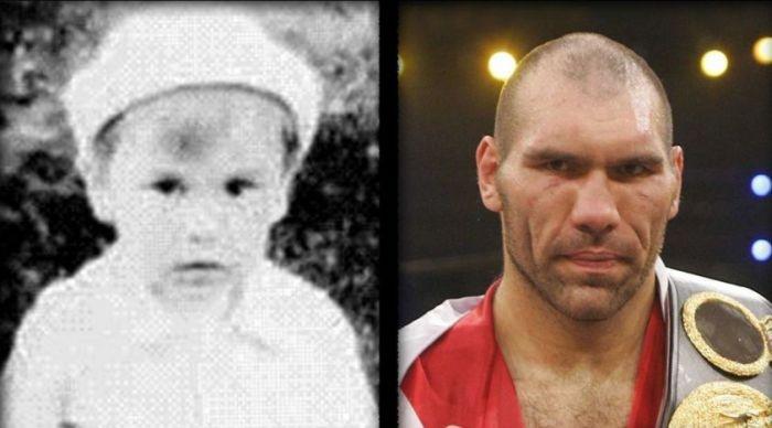 Российские спортсмены в детстве и молодости (45 фото)