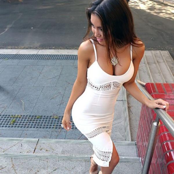 Классные платья на сексуальных девушках (21 фото)