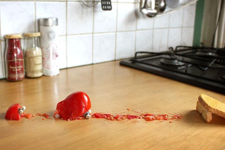 Еда, преодолевающая преграды (10 фото)
