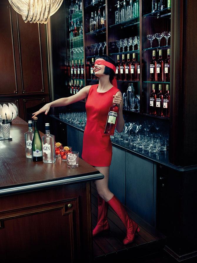 Ева Грин для календаря Campari 2015 (13 фото)