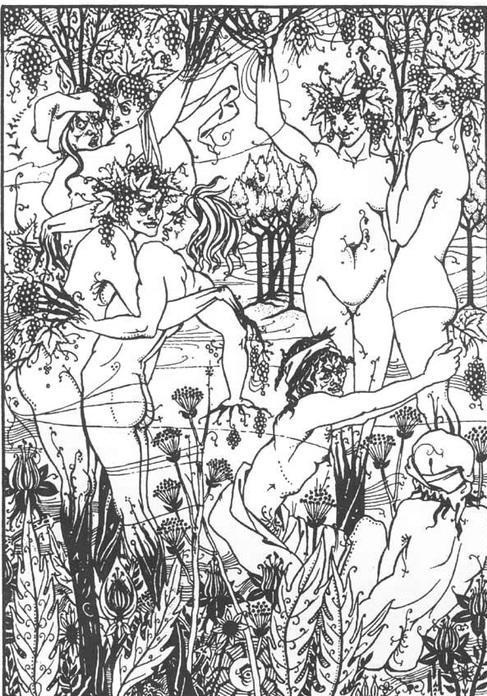 Утонченная эротика Обри Бердслея (18 фото)