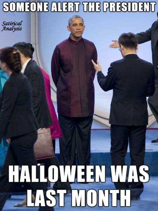 Китай: интернет насмехается над Бараком Обамой (5 фото)