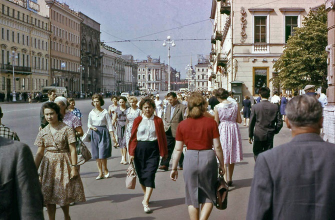 Ленинград 1961-го года в цвете (19 фото)