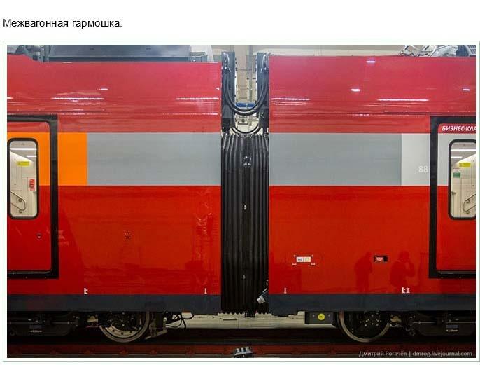 В Москве прошел показ двухэтажного электропоезда компании Аэроэкспресс (46 фото)
