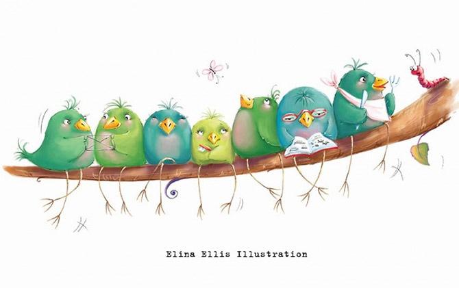 20 иллюстраций Элины Эллис, от которых станет тепло даже в самый колючий холод