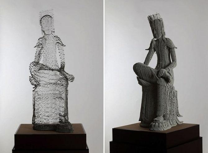 Удивительные скульптуры из бумаги от Хо Юн Шин (12 фото)