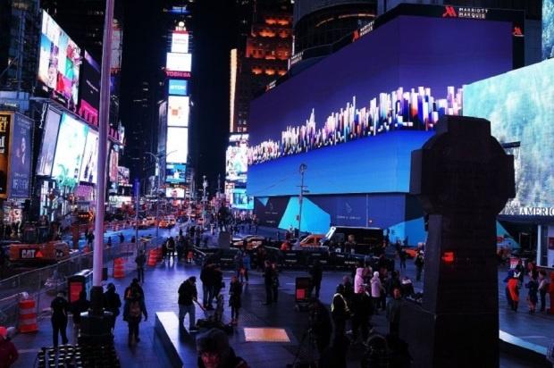 В Нью-Йорке появился самый большой в мире видеоэкран (4 фото)