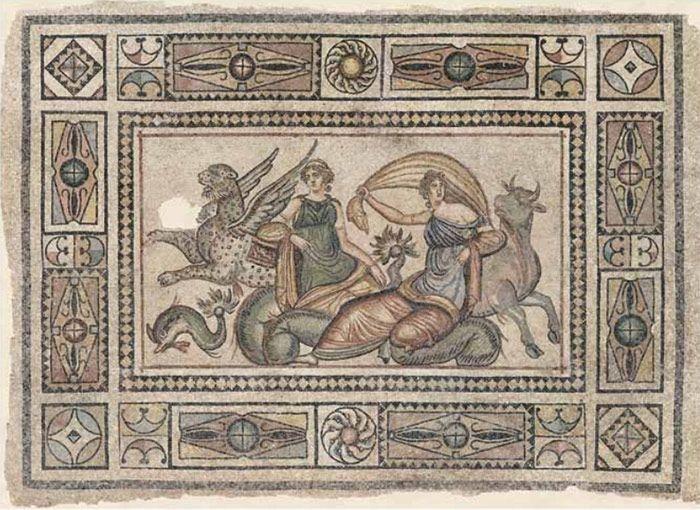 Турция: 2000-летняя мозаика обнаружена в городе Зевгмы (14 фото)