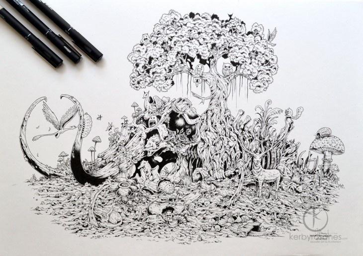 Рисунки от Керби Розанеса (10 фото)