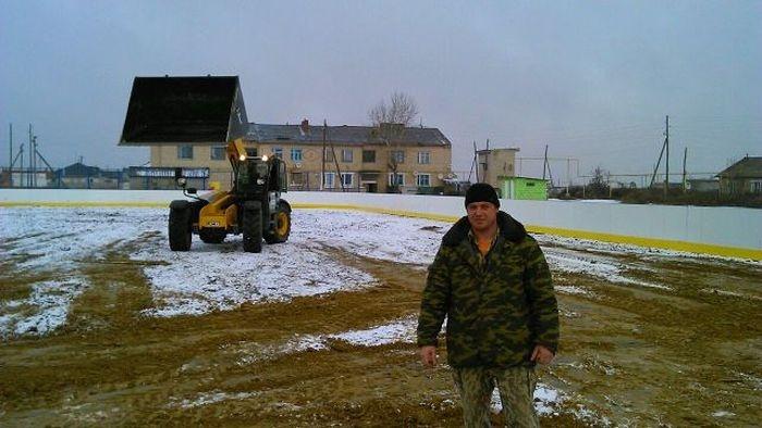 Как жители Челябинска строили открытый каток (49 фото)