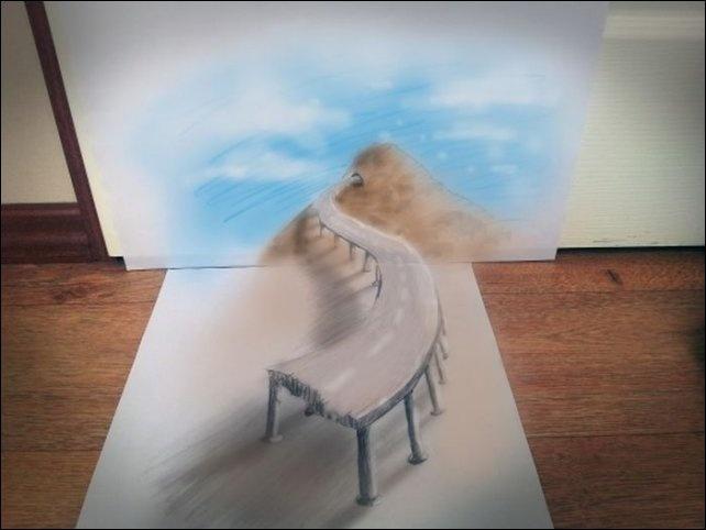 Невообразимые 3D рисунки (22 фото)