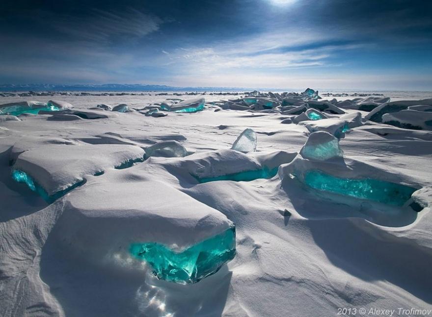Природа, когда в дело вступила зима (24 фото)