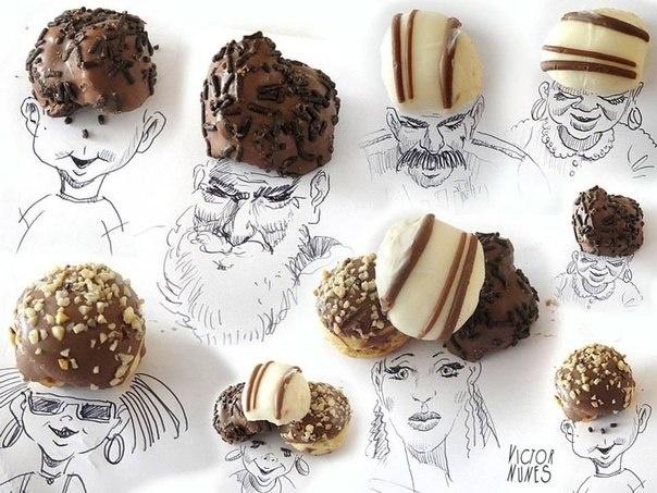 Художник превращает еду и бытовые предметы в арт-объекты (10 фото)