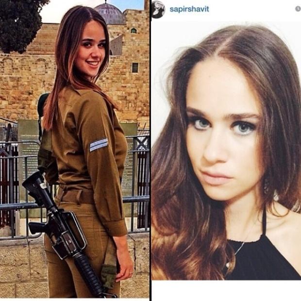 Красотки-военнослужащие Израиля (19 фото)