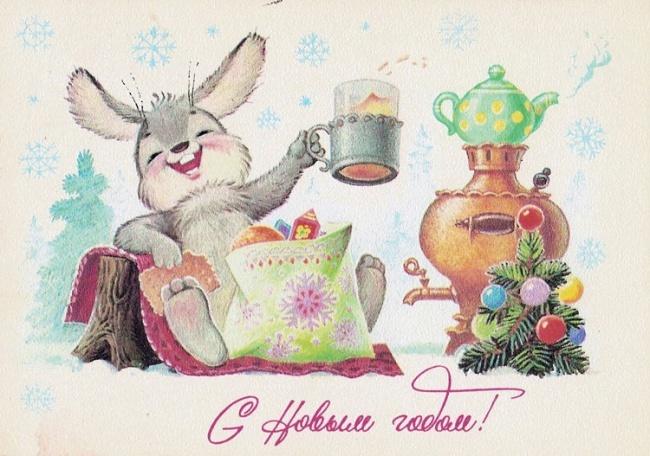 Новогодние открытки времен СССР (12 фото)