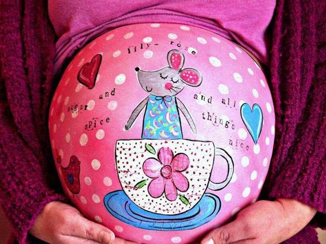 Роспись на будущих мамах (10 фото)