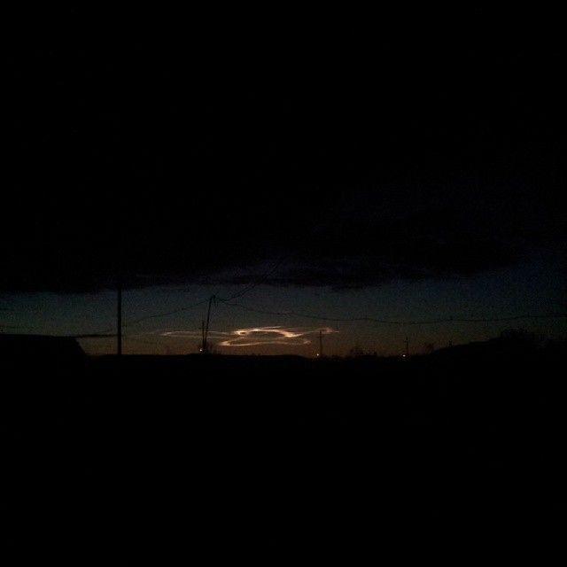 Природная аномалия над вечерним Барнаулом (9 фото)