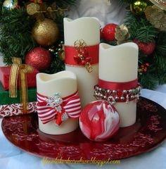 Новогодний креатив: свечи (16 фото)