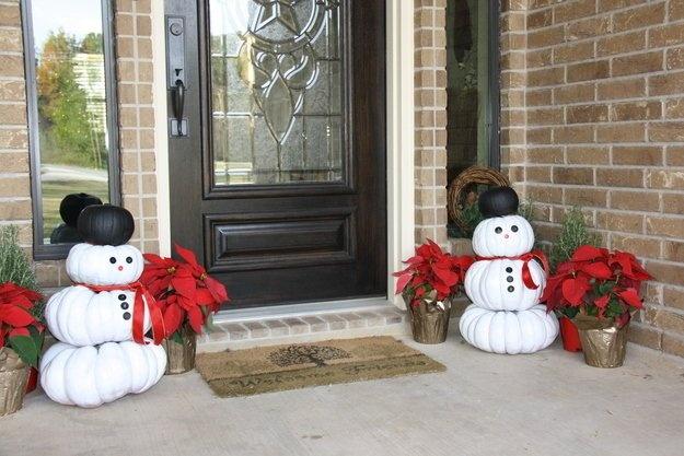 Новогодние украшения дома (24 фото)