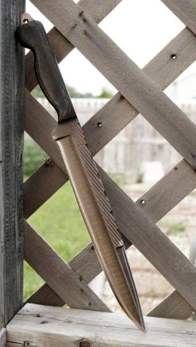 Оригинальные ножи из металлических предметов (30 фото)