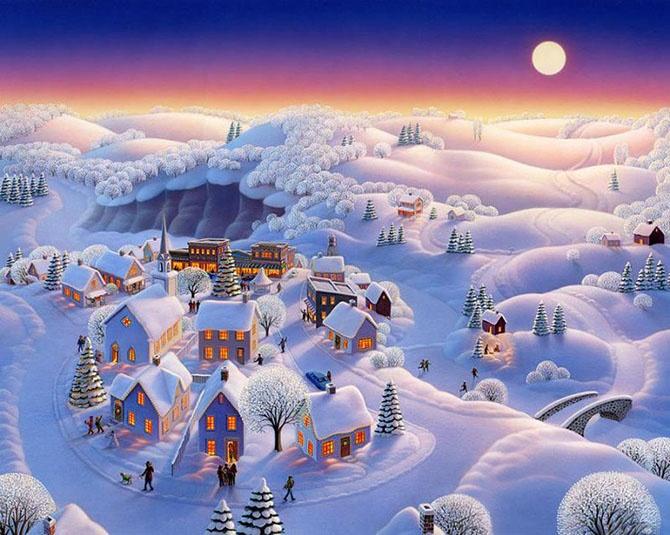Зимняя сказка от Робин Молине (16 картинок)