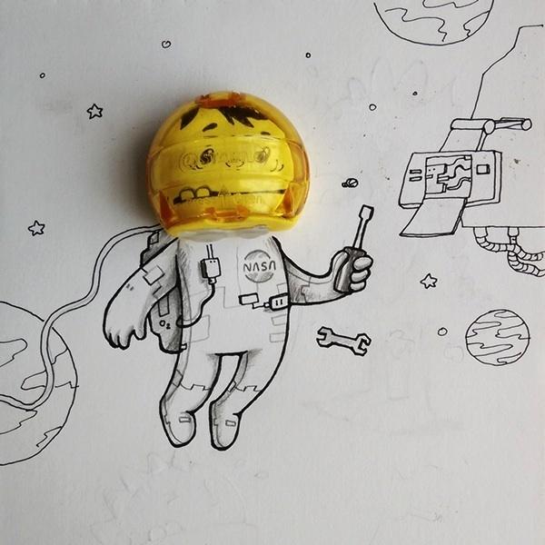 Веселые рисунки, на которых герои взаимодействуют с реальностью (20 фото)