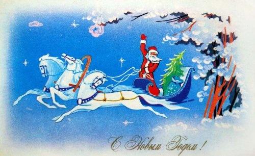 Подборка советских новогодних открыток. Часть 1 (24 фото)