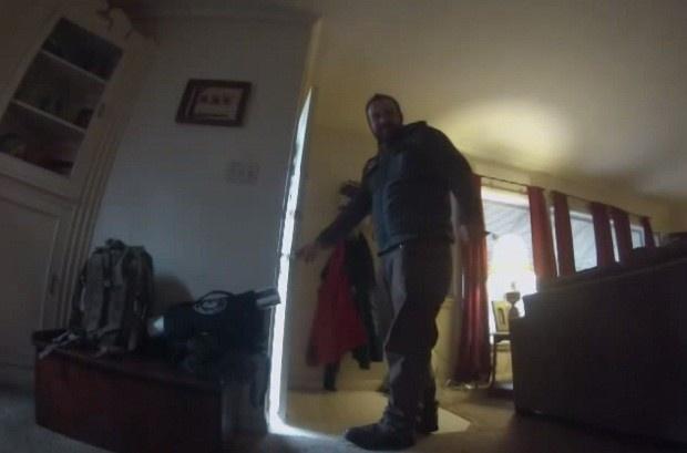 Что делает собака, оставшись дома одна (1 фото + 1 видео)