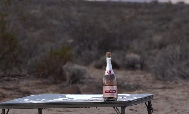 Американец открыл бутылку шампанского с помощью снайперской винтовки (1 фото + 1 видео)