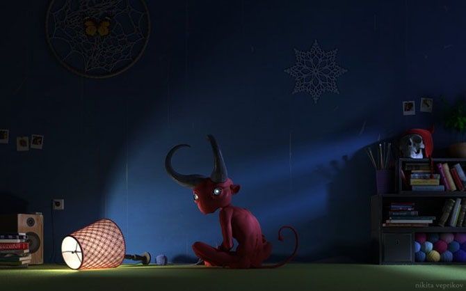 Невероятные 3D-иллюстрации Никиты Веприкова (12 фото)